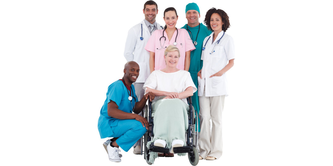 patient and group of medical experts